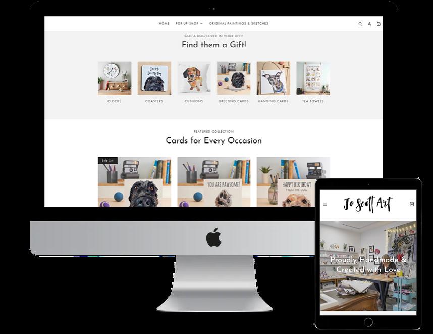 Jo Scott Art shopify store design