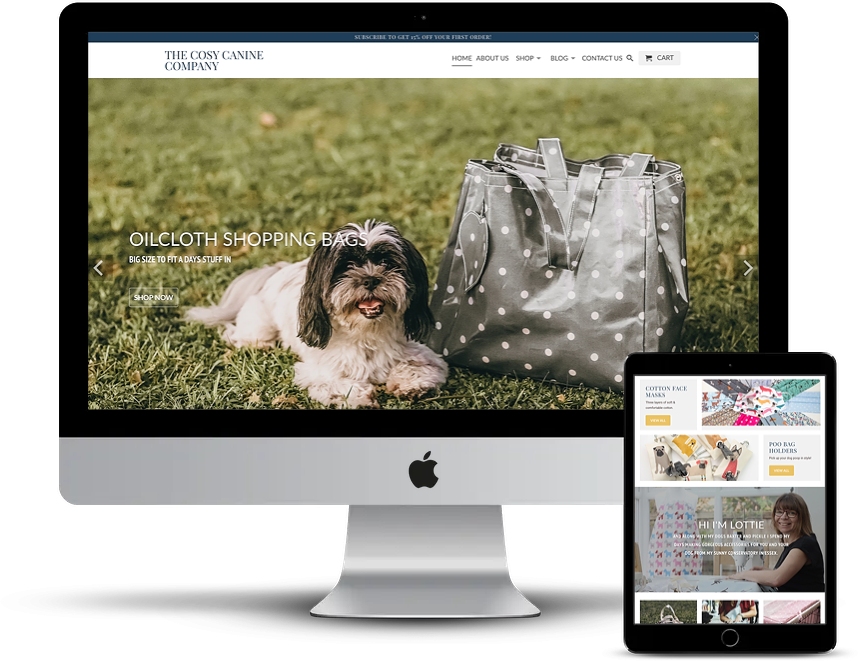 The Cosy Canine Company Shopify Store design