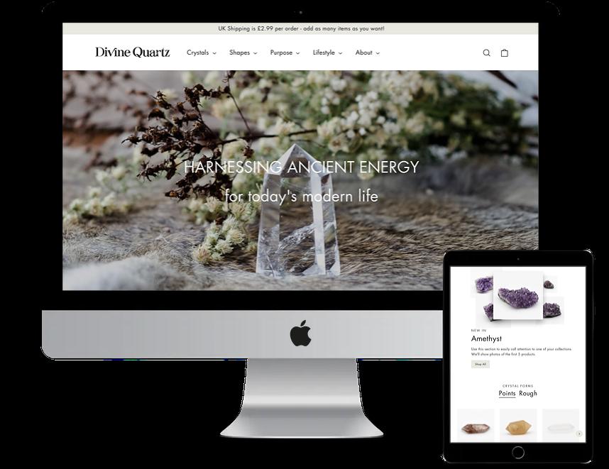 Divine Quartz shopify store design