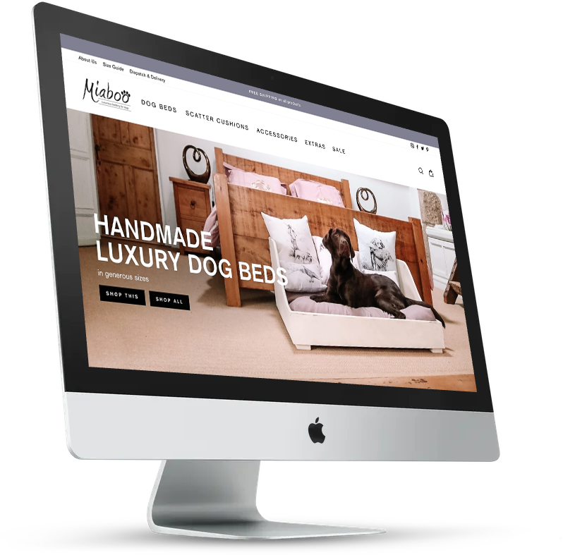 Shopify store design for oodg bed company