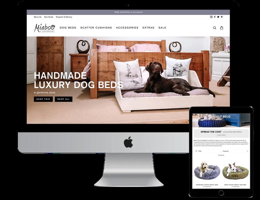 Shopify store webste design Miaboo